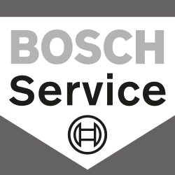 Logo des Bosch Services in grau